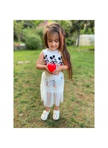 Quzucuk Kids Quzucuk Kids Figürlü Renkli Kız Çocuk Tüllü Takım Renkli